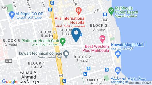 Magic Suites Al Mahboula Map