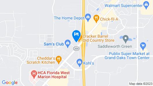 Courtyard Marriott Ocala Map
