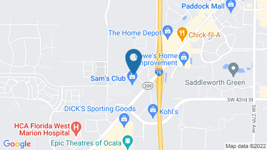 SpringHill Suites by Marriott Ocala Map