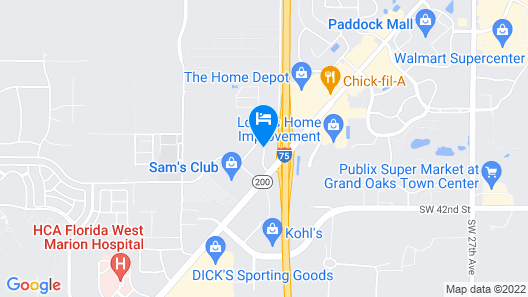 Best Western Ocala Park Centre Map