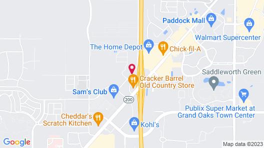 Hampton Inn and Suites Ocala Map