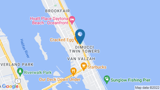 Holiday Inn Express & Suites Oceanfront Map