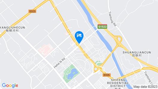 New Century Hotel Tiantai Zhejiang Map