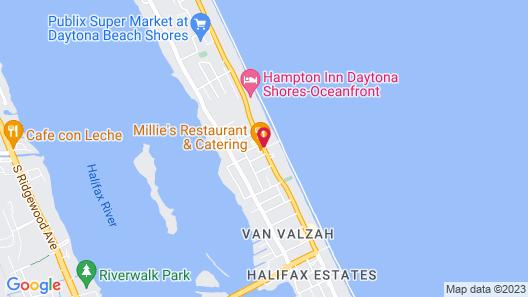 Hampton Inn Daytona Shores - Oceanfront Map