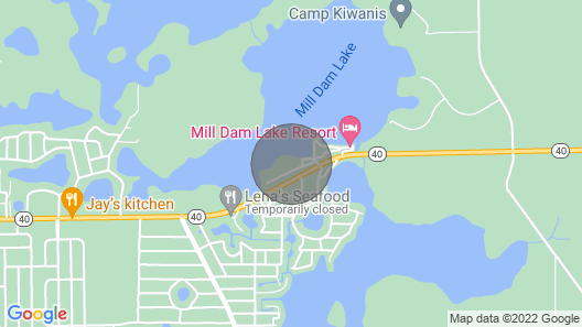 Waterfront Silver Springs Home on Mill Dam Lake! Map