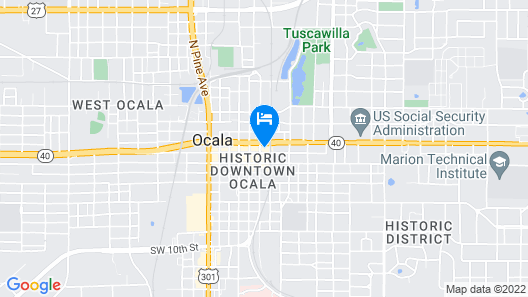 Hilton Garden Inn Ocala Downtown Map