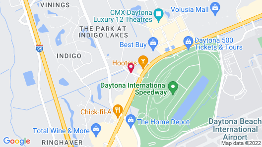 Home2 Suites by Hilton Daytona Beach Speedway Map