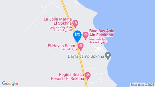 Blue Bay Asia Resort El Sokhna Map