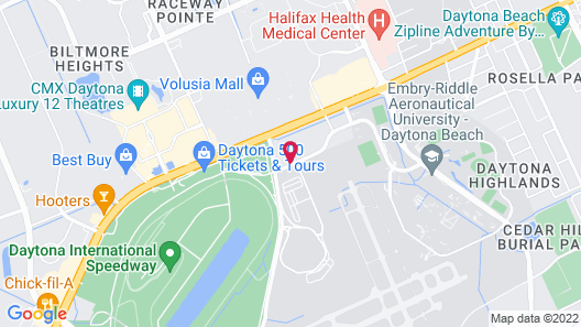 Hilton Garden Inn Daytona Beach Airport Map