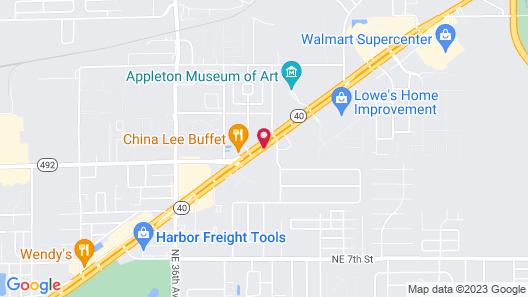WoodSpring Suites Ocala Map