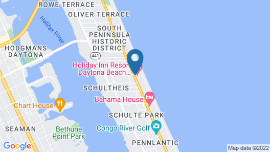 Holiday Inn Resort Daytona Beach Oceanfront Map