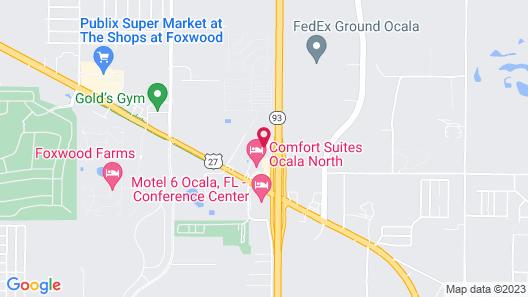 Howard Johnson by Wyndham Ocala FL Map
