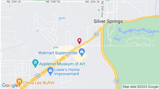 OYO Hotel Mustang Silverspring FL Map