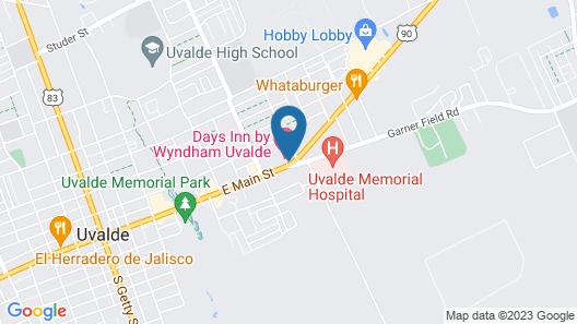 Motel 6 Uvalde, TX Map