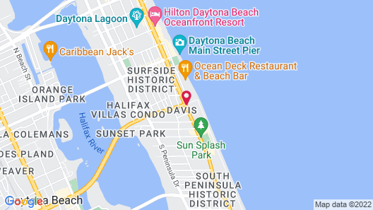Boardwalk Inn and Suites Map