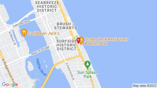 Comfort Inn & Suites Daytona Beach Oceanfront Map