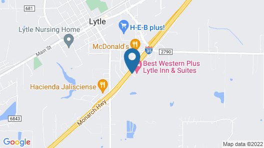 Best Western Plus Lytle Inn & Suites Map