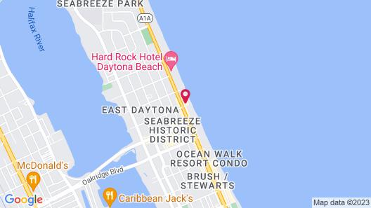 Quality Inn Daytona Beach Oceanfront Map
