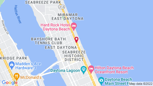 Best Western Plus Daytona Inn Seabreeze Oceanfront Map