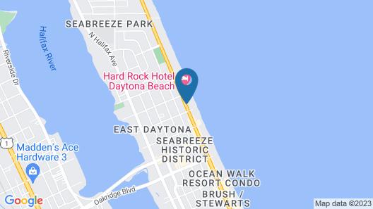 La Quinta Inn & Suites by Wyndham Oceanfront Daytona Beach Map