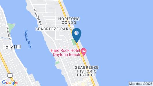 Hampton Inn Daytona Beach/Beachfront Map