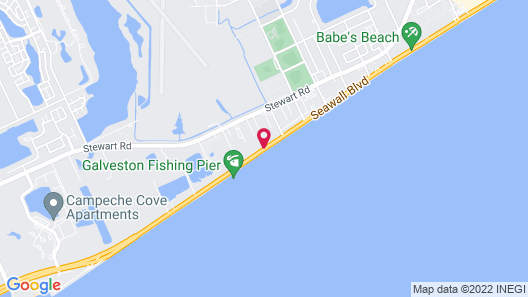 Holiday Inn Express Hotel & Suites Galveston West-Seawall Map