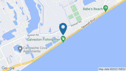 Comfort Suites Galveston Map
