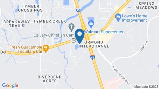 Hampton Inn Daytona/Ormond Beach Map