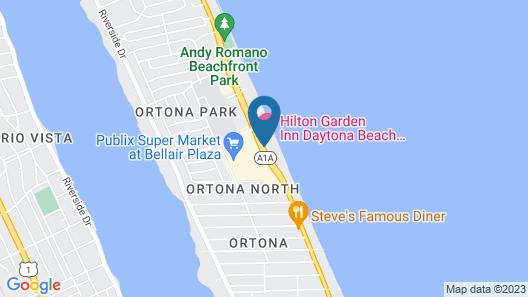 Hilton Garden Inn Daytona Beach Oceanfront Map