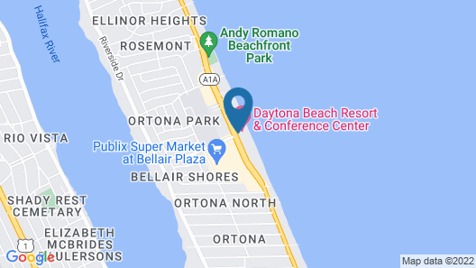 Daytona Beach Resort  Map