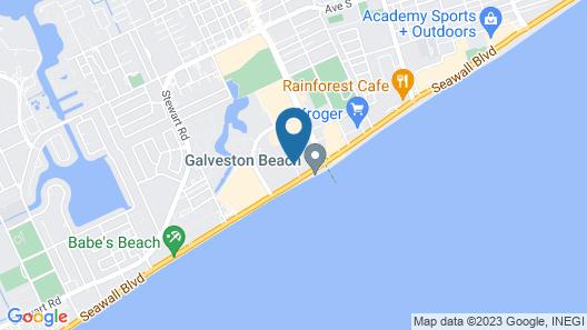 La Quinta Inn & Suites by Wyndham Galveston Map