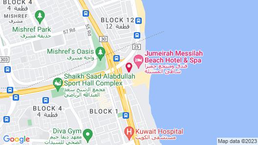 Jumeirah Messilah Beach Hotel And Spa Map