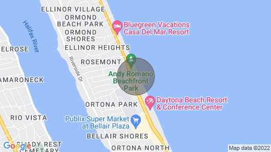 On the Beach at Daytona Beach With a Spectacular Ocean View and a Reduced Rate Map