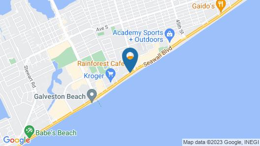 Hilton Galveston Island Resort Map