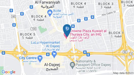 Holiday Inn Kuwait Al Thuraya City Map