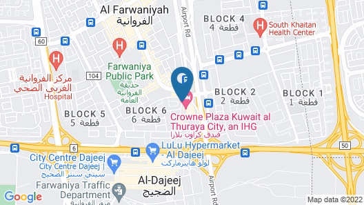 Crowne Plaza Kuwait Al Thuraya City Map