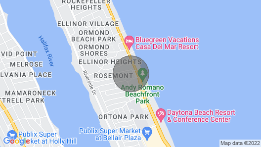 Chic Ormond Beach Cottage w/ Patio - Walk to Ocean Map