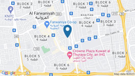 Continental Suite Farwaniya Map