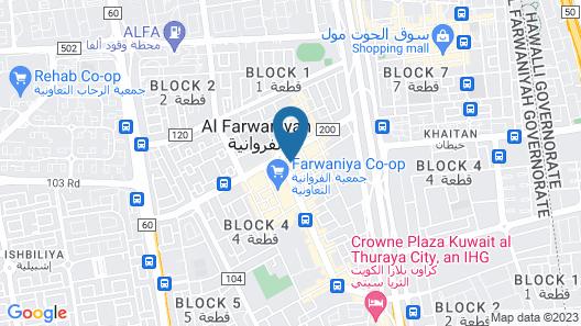 Continental Inn Hotel Al Farwaniya Map