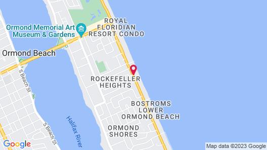 Quality Inn Oceanfront Map