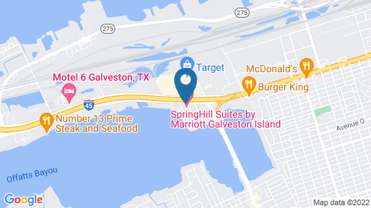 Springhill Suites by Marriott Galveston Map