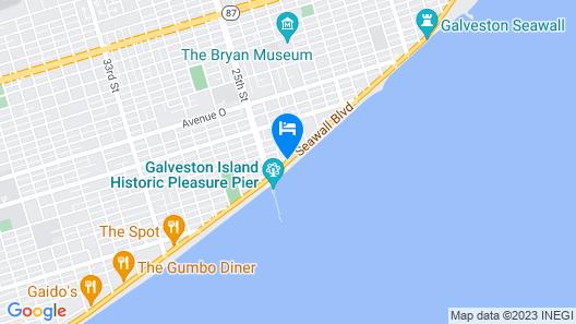 Four Points by Sheraton Galveston Map