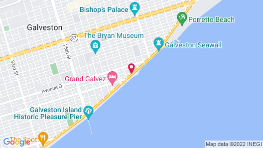 DoubleTree by Hilton Hotel Galveston Beach Map