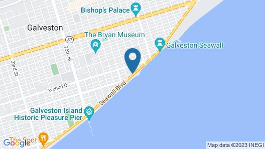 DoubleTree by Hilton Hotel Galveston Beach Map