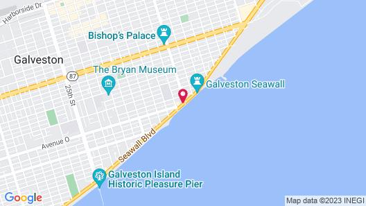 La Quinta Inn by Wyndham Galveston East Beach Map