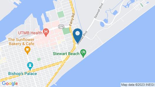 Homewood Suites by Hilton Galveston Map