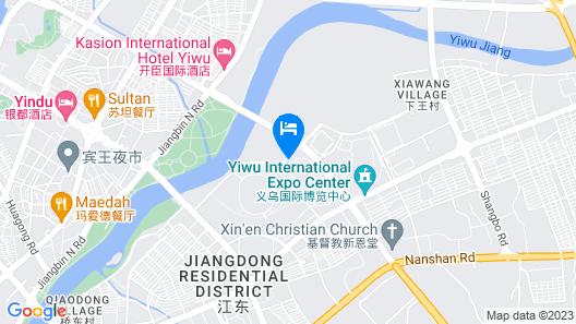 Crowne Plaza Yiwu Expo Map