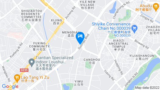 Narada Boutique Hotel Yiwu Huafeng Map
