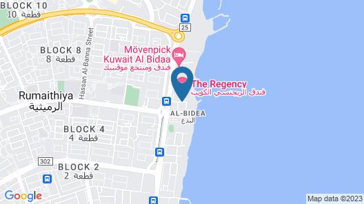 The Regency Hotel, Kuwait Map