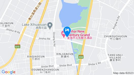 Grand New Century Hotel Ninghai Jinhai Map